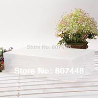 10 pcs/lot PP plastic clear shoes box short boots organizer 40*29*11cm