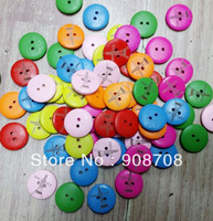 W025 Fashion Wood Button 20mm Mixed Buttons 120pcs Round Garment Button