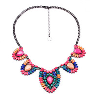 Free Shopping 2014 New Arrival Exaggeration Vintage Bohemia Short Crystal Necklace Pendants Fashion Jewelry For Women SN0033