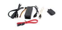 USB 2.0 to IDE/SATA 2.5 3.5 5.25 HDD Converter Adapter Cable US Plug