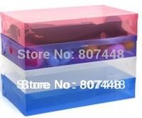 5 pcs/lot PP plastic clear shoes box long boots organizer 52*30*11cm