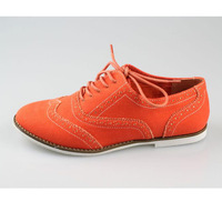 Fashion preppy style front strap bullock carved shoes flat single shoes flat heel vintage handsome women's shoes