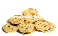 Gold-plated high quality entity BTC coin commemorative collection popular physical coins #BTC003