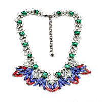 Free Shopping 2014 New Arrival Exaggeration Vintage Joker Pearl Short Crystal Necklace Pendants Fashion Jewelry For Women SN0040
