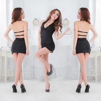 Fast/Free Shipping Wholesale 2014 New Sex Lingerie Bar Uniforms Costumes Racerback Halter-neck KTV  Temptation For Adult Lady