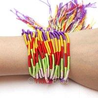 Free Shipping 5pcs Jewelry Lots Colorful Disco Braid Friendship Cords Strands Bracelets 20-24 cm 260519