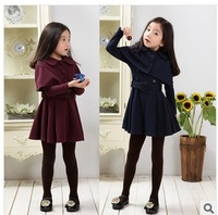 100% cotton trench outerwear long-sleeve set medium-large child winter spring and autumn