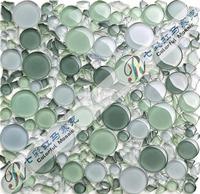 [Colorful Mosaic] 2014 New Arrival Crystal Round & Irregular Mixed Mosaic Tile. QA078