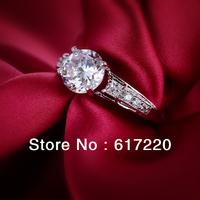 2014 New Fashion High Quality Rhiny Rhineston Platinum Plated Wedding Ring/Engament Ring 12PCS/LOT