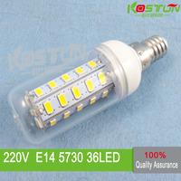 10X  36 SMD 5730 E14 led corn bulb lamp,  Warm white /white led lighting  led corn lighting  , lamps