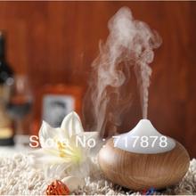 HOT Wood Grain LED Aroma Diffuser Ionizer Generator Airmist Purifier Humidifier Free shipping(China (Mainland))