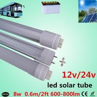 100pcs/lot  led tube t8 60cm 8w led tube t8 12v  2ft led solar tube  24V  led tube lamp bus lamp factory outlet