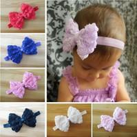 2014 New Arrival Baby Girl Headdress 12 cm Before Chiffon Rose Flower Bow DIY Headband Hair Accessories XM-7