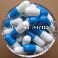 (2000pcs/pack) 1# Blue/White Color Hard Gelatin Capsule, Gel Capsule, Empty Capsule---Cap and Body Separated