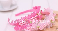 2014 Seconds Kill Free Shipping Pear Rose Fashion Jewelry Cute Princess Headwear Headbands Girl Hair Accessories Love Design