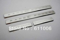 Door sill Step Protector Guard Panel Scuff Plate Fit Range Rover Emblem Letter Panel Strip