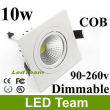 High Power Aluminum AC85-265V 10W Square Cob Led Downlight 1000Lm Recessed Led COB Light Bulb Lamp FCC SAA CE&ROHS Approved (China (Mainland))
