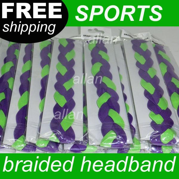 new design neon braided elastic headband for sports(China (Mainland))