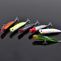 Trulinoya fishing lures,Floating POPPER fishing hard bait,6 color 9cm/10g,popper swimbait,with VMC hooks,6pcs/lot,Free shipping