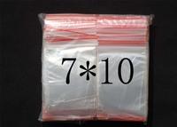 500pcs/lot small clear pe zipper packaging / food ziplock bag / jumbo bag / sealed bags wholesale 7*10cm