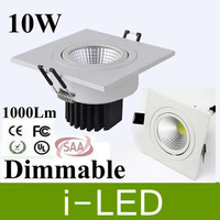 AC 110-240V  Cob 10W Led Recessed Downlights Dimmable Warm Cold White Led Ceiling Light Bulbs 900lm 120 Angle + CE ROHS UL SAA