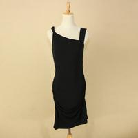 Amy gee sexy pure black sleeveless spaghetti strap of paragraph women's sexy one-piece dress fashion