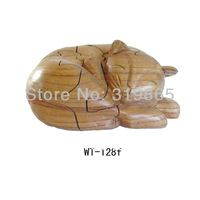 Handmade beauty cute cats WT-128f Cat  WitCrafts manufactures and distributes wood  crafts, arts and toys new model gifts