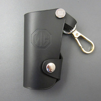 Free shipping real leather Genuine leather car key wallet mg 6 cowhide key wallet key cover black