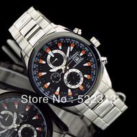 Geleiman Men casual sports watch Complete Calendar quartz multifunctional stainless steel watches 1216