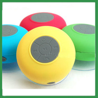2014 Portable Waterproof Wireless Bluetooth mini Speaker Shower Car Handsfree Receive Call & Music Suction Phone Mic
