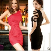 1861 oblique sexy hip ol slim formal dress one-piece dress