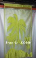 Coconut trees line curtain