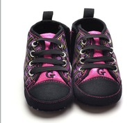 Brand G Baby girl's canvas purple boot for infantil bebes winter & spring outdoor wear retail first walkers shoes