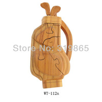 Handmade wood golf bag WT-112n Caddie Bag WitCrafts manufactures and distributes wood crafts, arts and toys new model gifts