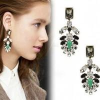 David jewelry wholesale E270   vintage color block gem drop earring new 2014 brand earrings fashion earrings 2014