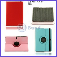 PU Leather Case For Samsung 2014 Edition Galaxy Note 10.1 P601 P600 Rotating Stand Cover Case