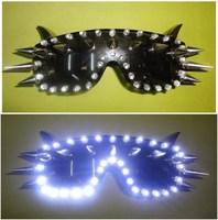 Bling baby costume costumes ds punk led glasses led rivet glasses