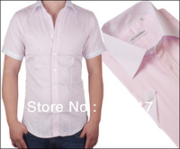 free shipping 4 colors size S-3XL men brand business formal shirt non-iron anti-wrinkle cotton short sleeve men shirt  MWS130008