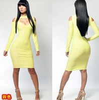 2014 fashion dress selling long-sleeved sexy tight night dress dress jumpsuits
