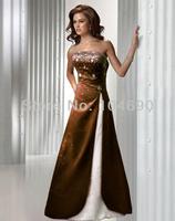 freeship,New Debutante dress,long floor,A-line, bridesmaid dress,ball dress, coffee