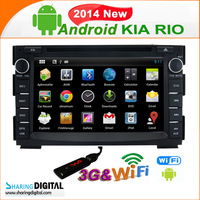 Sharing Digital  KIA RIO( 2005-2010 android 4.2 CAR DVD SYSTEMS WITH WIFI 3G Kia-7678GDA    1080P high resolution