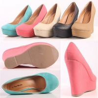Free shipping 2014 New arrival designer shoes high heels platform pumps wedges shoes for women ladies shoes promotion