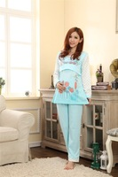 Month of clothing cotton Women's plus size nursing clothes Spring Autumn maternity sleepwear & Lounge set maternity clothing