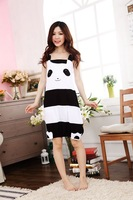 2014 NEW Lovely female cartoon animals conjoined panda leisurewear suit skirt with shoulder-straps