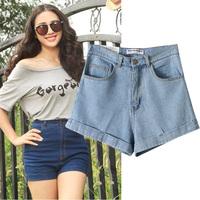 Summer new arrival 2014 vintage high waist denim shorts casual shorts