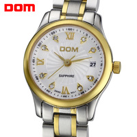 Watch male dom ultra-thin business casual stainless steel mechanical waterproof rhinestone mens watch