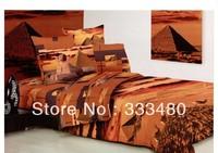 Best quality !!  100% Cotton Best Quality Twill Fabric Pyramid 3D Oil Best Print 4pcs 3d bedding sets