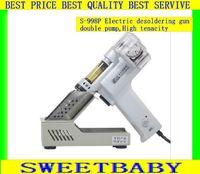 Most Free Fast shipping   220v/100W S-998P Double pump Electric desoldering gun  vacuum pump gun solder