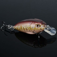 1pc fishing tackle Exported to Usa Chocolate Color Fishing Bait 13.5g/6.8cm High Quality Fishing lure With 6# Hook FreeShip