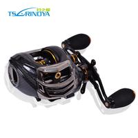 Tsurinoya TS1200 Baitcasting Fishing Reel Black 14BB Left Hand Version Low Profile Baitcaster